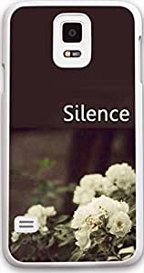 Galaxy s5 Case Dseason, Samsung Galaxy s5 Case New Slim Hard Unique Design Christian Quotes Silence Quiet elegant flowers