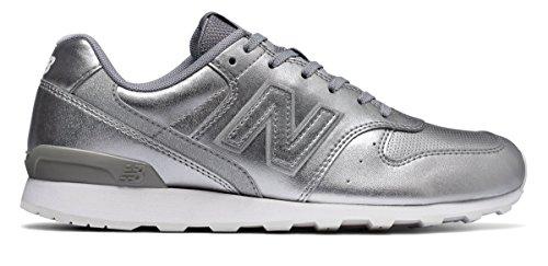 (ニューバランス) New Balance 靴?シューズ レディースライフスタイル 696 Metallic Silver メタリック シルバー US 6.5 (23.5cm)