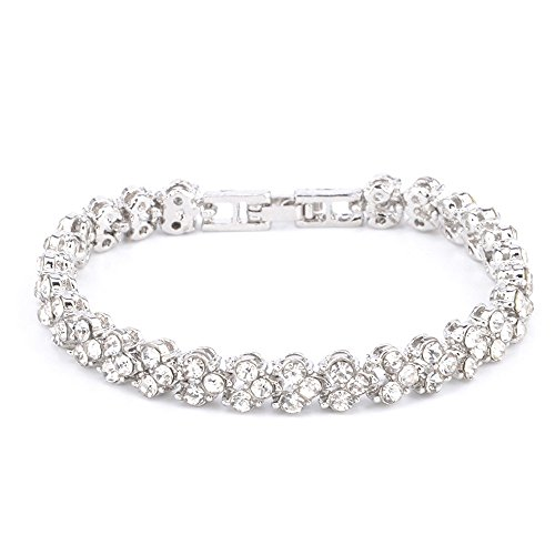 Clearance Sale!UMFunNew Fashion Roman Style Woman Crystal Diamond Bracelets Gifts (Silver)]()