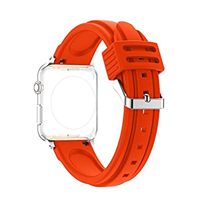 Bands for Apple Watch 42MM, Rosa Schleife iWatch Wristband Silicone Sport Straps Replacement Band with Classic Stainless Steel Buckle for Apple Watch Series 2 / 1, Sport , Edition from Rosa Schleife