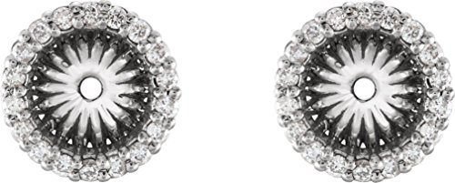 Platinum Diamond Cluster Earring Jackets (6.1 MM) (0.2 Ctw, G-H Color, SI2-SI3 Clarity) (Earring Jackets Platinum Diamond)