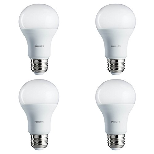 Full Spectrum Replacement Bulbs (Philips LED Non-Dimmable A19 Frosted Light Bulb: 800-Lumen, 5000-Kelvin, 8-Watt (60-Watt Equivalent), E26 Base, Daylight, 4-Pack)