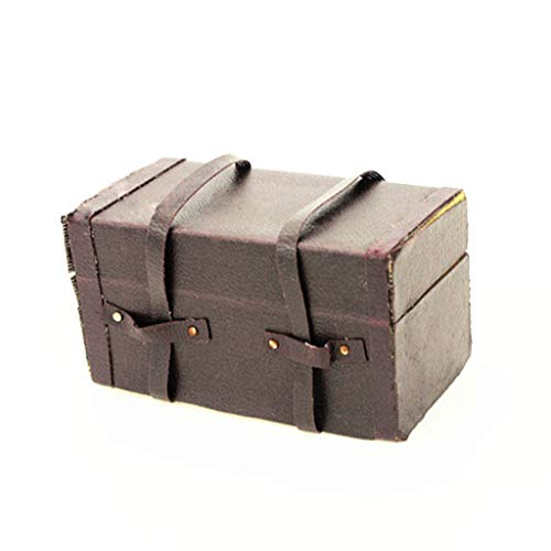 - Maikouhai Miniature Suitcase, 1:12 Cute Mini Dollhouse Packing Bags Doll House Storage Box Doll Room Trunk Kids Children Pretend Toy - Wood & Leather - 58x30x31mm