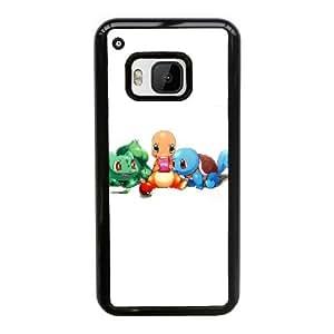 caja del teléfono celular Funda HTC uno M9 funda S0V0QX Pokemon Negro