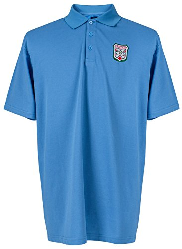 Caddyshack Embroidered Bushwood Country Club Crest Polo - Blue by ReadyGOLF Large