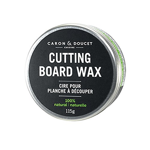 Caron & Doucet - Coconut Cutting Board Wax & Butcher Block Wax Conditioner & Finish - 100% Plant Based, Refined Coconut Oil & Natural Waxes (Rice Bran), Does Not Contain Mineral Oil (Petroleum). (Best Wood Cutting Board Brands)