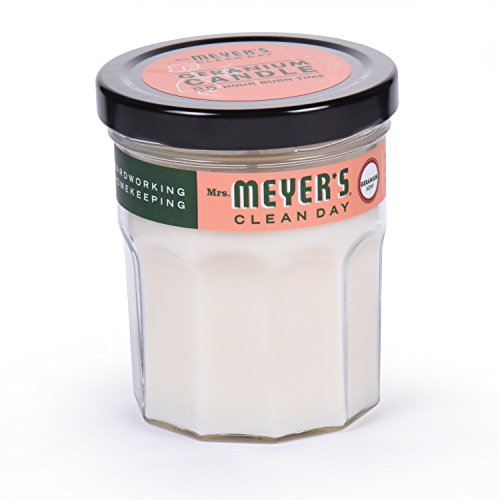 Mrs. Meyer's Merge Clean Day Scented Soy Candle, Geranium, Small, 4.9 Ounce
