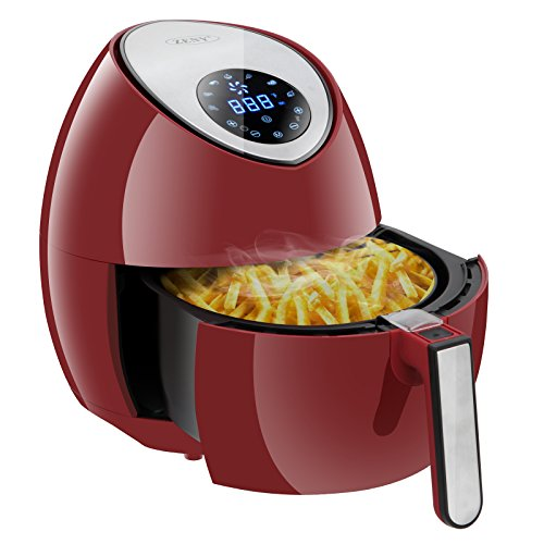 ZENY 3.7 Quarts 7-in-1 Electric Air Fryer Touch Screen Control Programmable, 7 Cooking Presets for Healthy Oil Free Cooking, w/Recipe Book and Dishwasher Safe Parts (Burgundy Red) by ZENY (Image #10)