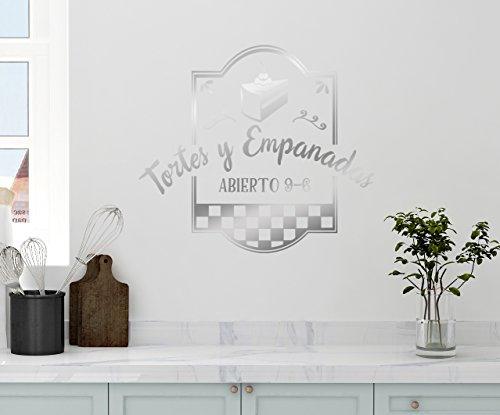 "24""x20"" Tortes Y Empanadas Tart Pastry Kitchen Pie Abierto Open Sign Kitchen Bakery Caf_ Shop Spanish Wall Decal Sticker Art Mural Home Decor Quote"