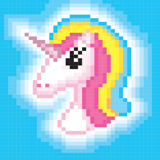 Pixel Art - Color By Number! Coloring Book for adults, kids and toddlers -