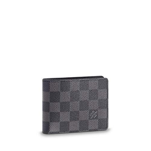 (Louis Vuitton Damier Graphite Canvas Slender Wallet N63261 )