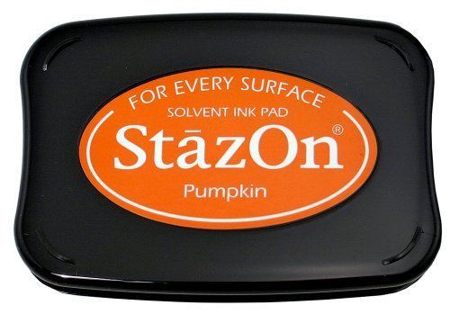 Stazon Pumpkin - Tsukineko Full-Size StazOn Multi-Surface Inkpad, Pumpkin by Tsukineko