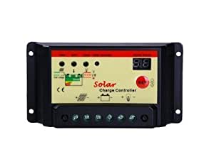 10 Amp PWM Charge Controller Regulator Off Grid for Battery Charging