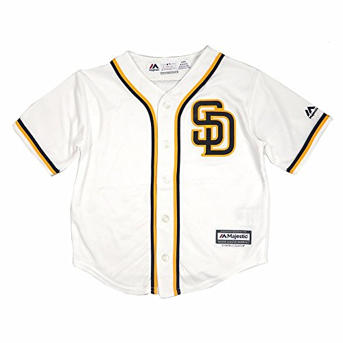 San Diego Padres MLB Majestic Boys White Official Home Cool Base Jersey (M/5-6)