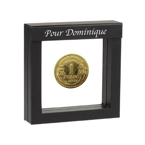 1 franc plaqué or 1948 dans étui de présentation personnalisé Historia
