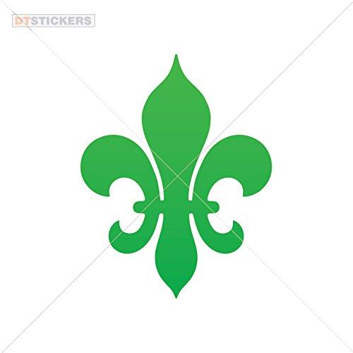 Religion Colors & Sizes Variations Hobby Vinyl Decal Fleur De Lis Royalty Hobby Decor (2 X 1,56 in.) Green