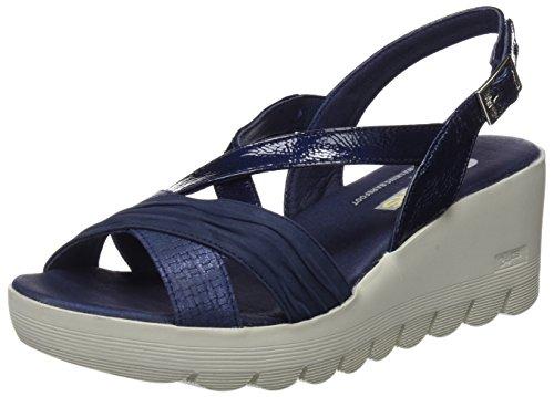 24 HORAS 23626, Sandalias con Plataforma Para Mujer Azul (Marino 5)