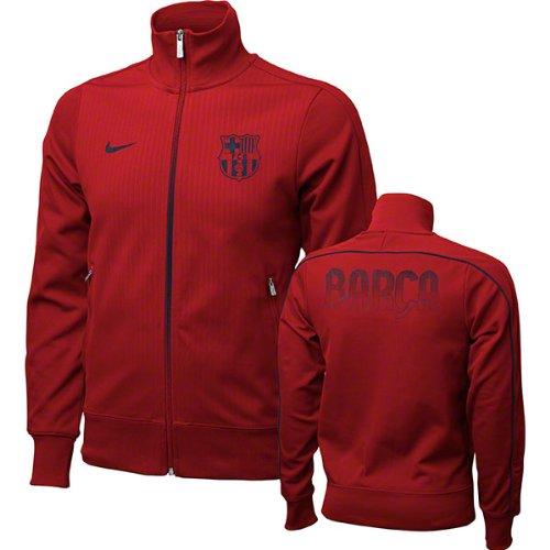 """Nike  FC Barcelona N98 - Giacca della tuta, motivo """"FC Barcellona"""", rosso (rosso), L"""
