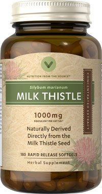 Vitamin World Milk Thistle 1000mg, 180 Softgels