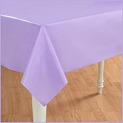 Creative Converting - Luscious Lavender (Lavender) Plastic Tablecover by Creative Converting