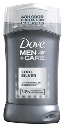 Dove Deodorant 3 Ounce Mens Cool Silver 1/4 Moisturizer (88ml) (6 Pack)