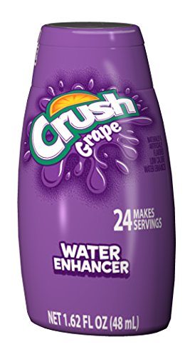 Crush Liquid Water Enhancers - Sugar Free Grape Water Flavoring with No Calories, 1.6 FL oz (12 Bottles that make 24 Servings Each)
