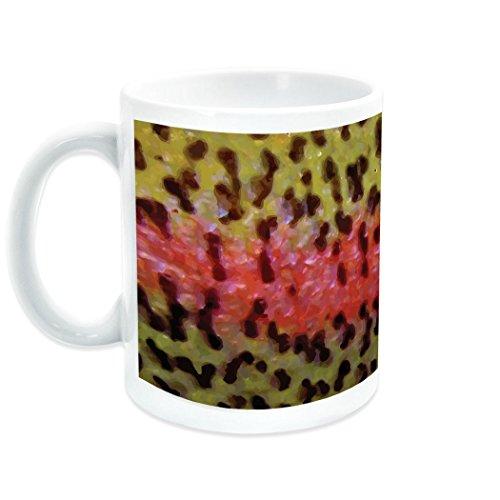 Rainbow Trout Ceramic Mug | Fly Fishing Coffee Mug by ChalkTalkSPORTS
