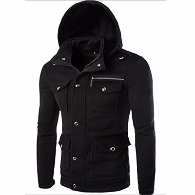Forthery Men's Long sleeve Zip-Up Casual Fleece Hoodie Coat Sweatshirt Jacket