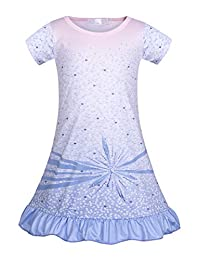 AmzBarley Girls Nightgowns Sleepwear Long/Short Sleeve Sleepshirts Kids Pajamas Night Sleep Dress