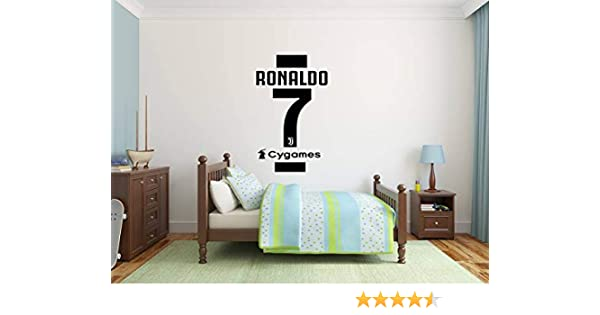Cristiano Ronaldo Camiseta # 7 Camisa Pegatina de pared + Logo de ...