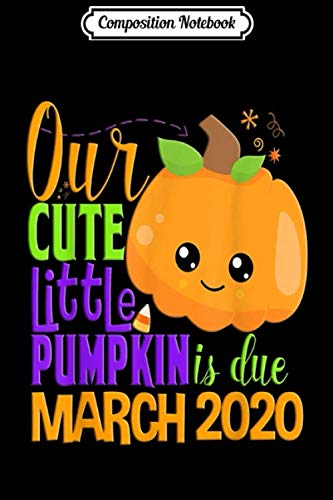 White Marsh Halloween (Composition Notebook: Our Pumpkin Due March 2020 Pregnancy Halloween Gift Fall  Journal/Notebook Blank Lined Ruled 6x9 100)