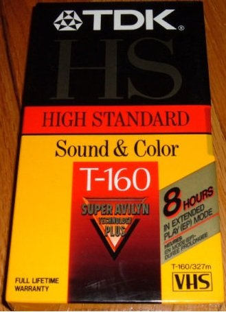 (TDK HS T-160 High Standard Sound & Color VHS Video Cassette Tape - 1 count - 8 hours in EP Mode)