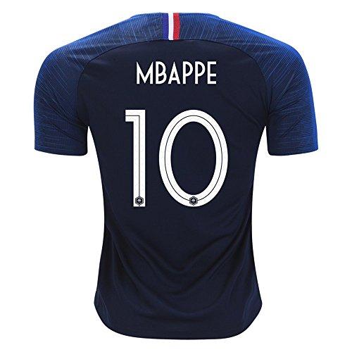 サッカー2018  フランス代表 ユニフォーム 上下セット MBAPPE 背番号10 MBAPPE 子供用 (子供L,MBAPPE) (L)