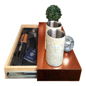 Covert Cabinets GS-1228 Gun Cabinet Wall Shelf Hidden Storage, Tuscan (Tuscan)