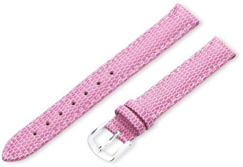 Hadley-Roma Women's LSL725RH 120 12-mm Pink Java Lizard Grain Watch Strap