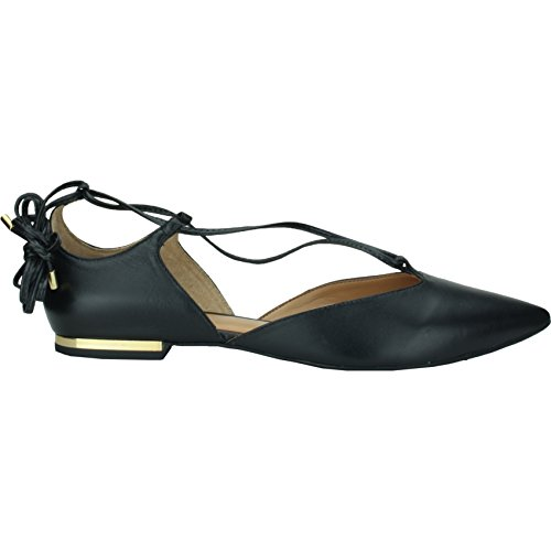 Bruno Menegatti Leather Flat Lace Up Black FQsYegoH