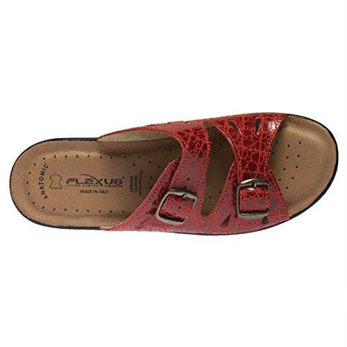 Flexus Kvinna Fotsteg Sandaler Rött