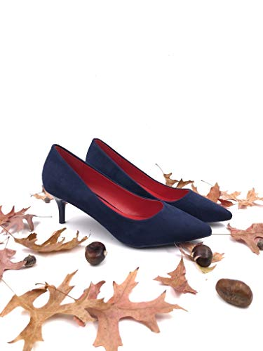Girl Blu Tacco Da Angkorly Alto Scarpe 6 Cm Moderno Sera Stiletto Basic Moda Working Con Donna Decollete Sexy zqwTrzxYI