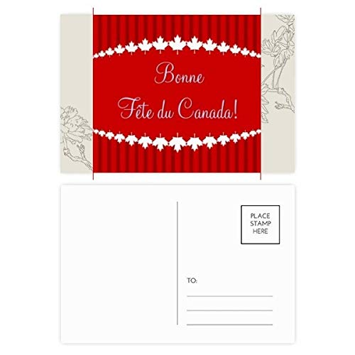 - Maple Leaf Happy Canada Day 4th Of July Flower Postcard Set Thanks Card Mailing Side 20pcs