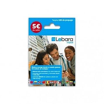 Lebara 5 - Tarjeta Prepago: Amazon.es: Electrónica