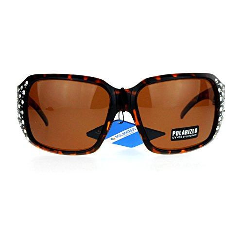 51c6c3a207d Womens Polarized Lens Sunglasses Oversized Square Rhinestone Frame UV400  durable modeling