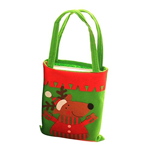 Yiping Holiday Decorations Portable Christmas Candy Bags Child Bags Handbag Festive Atmosphere Decoration(Elk)