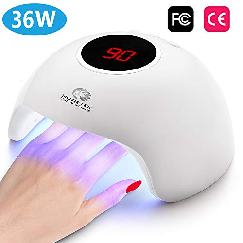 Nail Lamp UV LED Nail Dryer, 24W Nail Polish Curing Lamp with 3 Timer Setting, Automatic Sensor Nail Dryer Lamp with LCD Display Memory & Pause Timer Function for Fingernail & Toenail Nail Art (White)