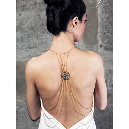 (Milanco Body Chain Sexy Beach Chain Beach Gold Back Chain Bikini Chain Fashion Jewelry Charm for)