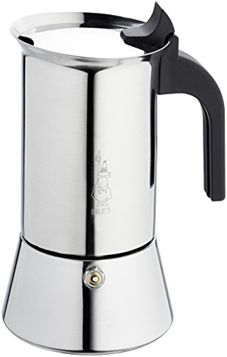 Bialetti Venus - Stove Top Espresso Maker - Stainless Steel with Black Insulated Handle - 6 Cups