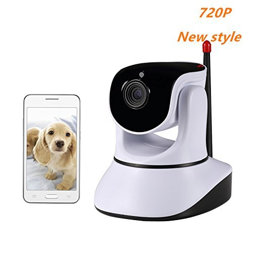 Nexgadget 720P HD Wireless Security IP Camera Pan Tilt with Two-Way Audio, Night Vision, Baby Pet Video Monitor Nanny Cam, Motion Detection P2P Network - Video Pet Chat