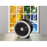 Mainstays 2 In 1 Heater Fan, Black