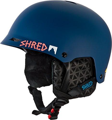 SHRED Casco de esquí, Snowboard Casco, Casco de Cerebro Medio Deluxe, Half Shell, Squall, XS/M (52–56)