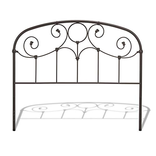 - Leggett & Platt Grafton Metal Headboard Panel with Prominent Scrollwork and Decorative Castings, Rusty Gold Finish, Full