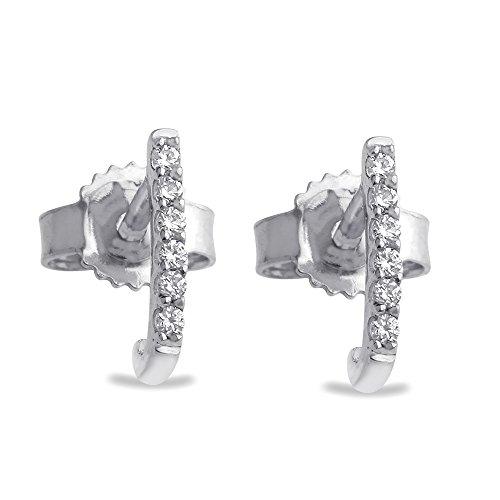 C. Krishniah Chetty Jewellers 18k (750) White Gold and Diamond Stud Earrings